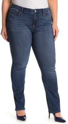 JEN7 by 7 For All Mankind Slim Straight Jeans (Plus Size)