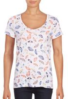 Lord & Taylor Umbrella-Print Cotton Tee