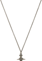 Vivienne Westwood New Tiny Orb Pendant in Metallic Silver.