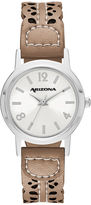 Arizona Womens Brown Strap Watch-Fmdarz145