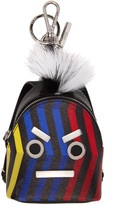 Fendi Black Faces Backpack Keychain