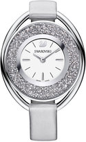 Swarovski Women's Stainless Steel Crystalline Fabric Strap Watch 37mm