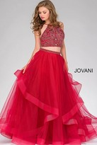 Jovani Two-Piece Embellished Tulle Prom Gown 46404