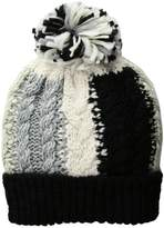 BCBGeneration Color Blocked Cable Beanie Beanies