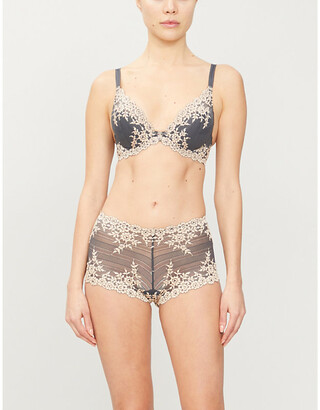 Wacoal Embrace Lace stretch-lace plunge underwired bra