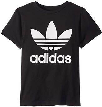 adidas Kids Trefoil Tee (Little Kids/Big Kids) (Black/White) Kid's T Shirt
