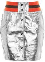Topshop Sport metallic leather mini skirt