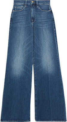 Frame Le Palazzo Faded High-rise Wide-leg Jeans