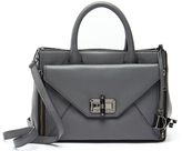 Diane von Furstenberg Grey Leather Envelope Tote Bag