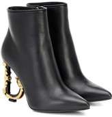 Dolce & Gabbana Devotion leather ankle boots