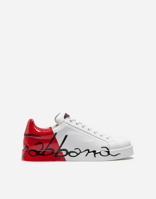 Dolce & Gabbana Portofino Sneakers In Leather And Patent