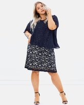 Evans Lace Dress with Chiffon Overlay