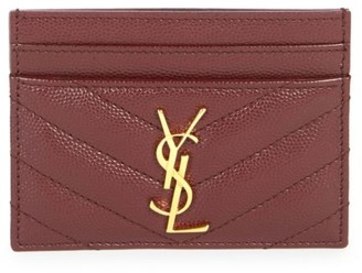 Saint Laurent Monogram Matelasse Leather Card Case