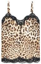Dolce & Gabbana Leopard-printed silk satin camisole