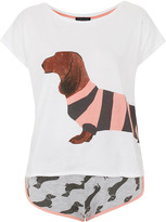Topshop Sausage Dog Tee and Short PJ