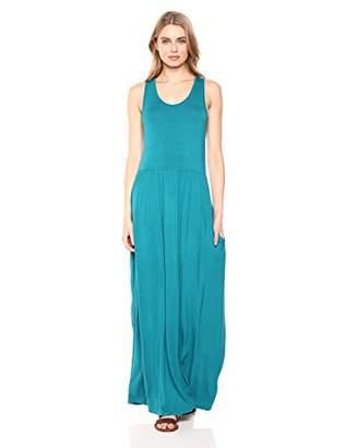 28 Palms Sleeveless Maxi Dress Casual,S
