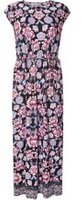 Dorothy Perkins Womens Petite Multi Coloured Floral Border Maxi Dress- Black
