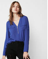 Express two pocket zip front shirt