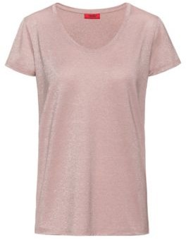 HUGO BOSS Sparkly T-shirt with scoop neckline