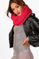 boohoo Amy Chunky Knitted Snood