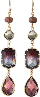 Nakamol Linear Crystal Dangle Earrings, Multi