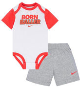 Nike Two-Piece Creeper Bodysuit and Shorts Set