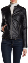 Cupcakes And Cashmere Faux Leather Front Zip Jacket