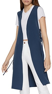 BCBGeneration Lace-Up Tunic Vest