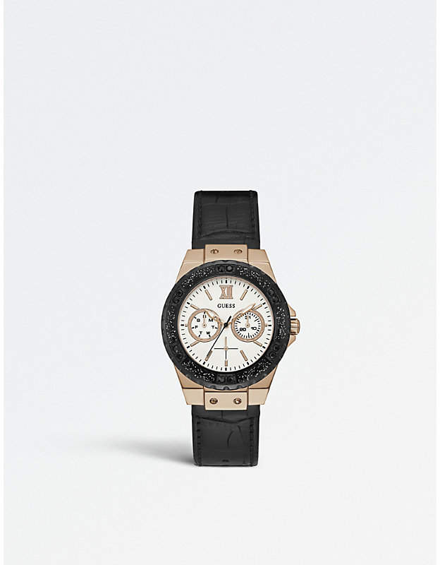 GUESS W0775L9 Limelight stainless steel and rubber watch