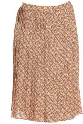 Burberry Monogram Print Skirt