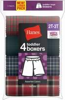 Hanes Toddler Boy's Tartan Boxer 4-Pack, Assorted, Size-2/3