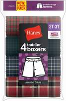 Red Label Hanes Toddler Boy's Tartan Boxer 4-Pack
