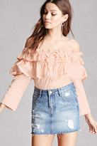 Forever 21 FOREVER 21+ Ruffle Off-the-Shoulder Top