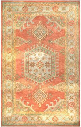 """nuLoom Myra Handmade Vintage-Style Area Rug, Orange, 7'6""""x9'6"""""""