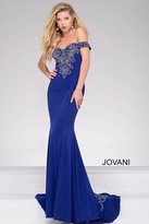 Jovani Off the Shoulder Train Dress 32360