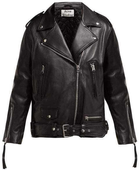 ad7bd673f Myrtle Leather Biker Jacket - Womens - Black