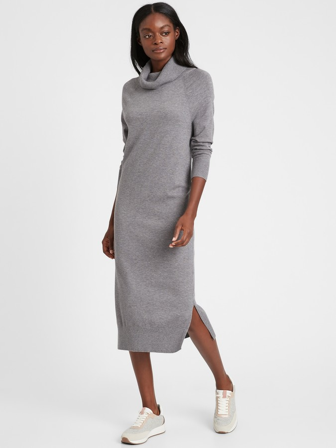Banana Republic Turtleneck Sweater Dress