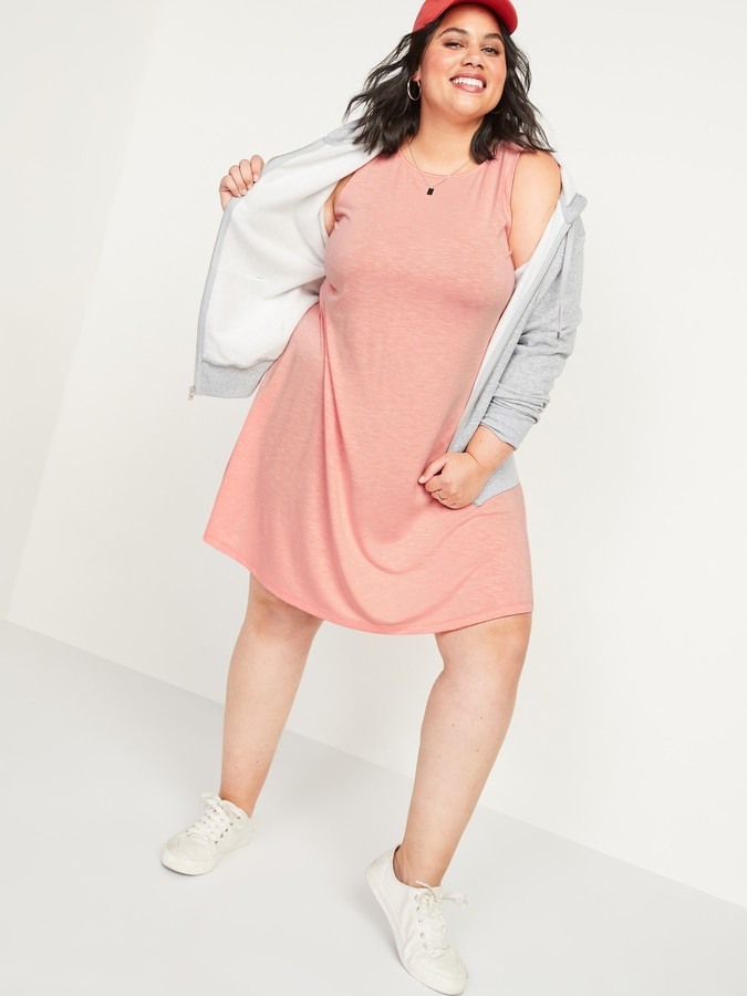 Old Navy Slub-Knit Plus-Size Sleeveless Swing Dress