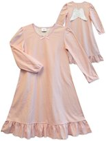 Sara's Prints Girls' Long Sleeve Angel Wings Nightgown, Kids