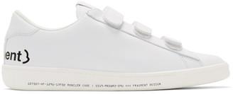 MONCLER GENIUS 7 Moncler Fragment Hiroshi Fujiwara White Leather Sneakers
