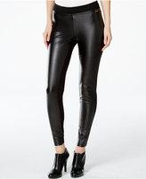 Calvin Klein Faux-Leather-Front Leggings