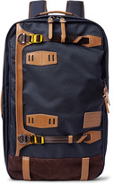 MASTERPIECE Potential Waterproof Leather and Suede-Trimmed CORDURA Convertible Bag