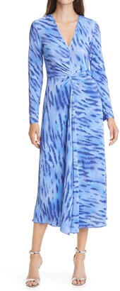 Rotate by Birger Christensen Sierra Textured Long Sleeve Dress