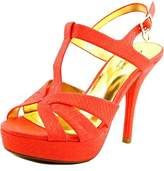 Thalia Sodi Raquell Open Toe Synthetic Platform Sandal.
