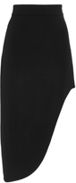 Cushnie et Ochs Black Asymmetric Stretch Cady Skirt