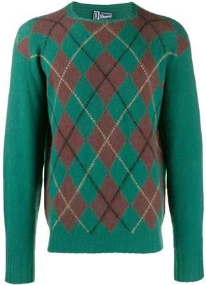 Drumohr A.N.G.E.L.O. Vintage Cult 1970's cashmere argyle jumper