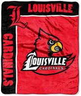 Northwest Company Louisville Cardinals Plush Team Spirit Throw Blanket