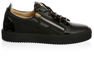 Giuseppe Zanotti Side Zip Leather Sneakers