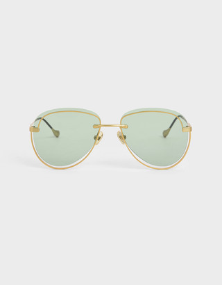 Charles & Keith Cut-Out Tinted Sunglasses