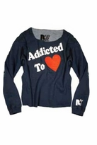 Rebel Yell Addicted to Love Boyfriend Pullover in Cobalt